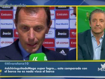 Butragueño y Josep Pedrerol