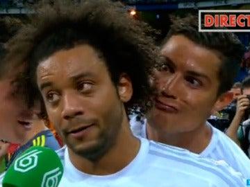 La broma de Ronaldo a Marcelo