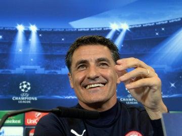 Michel, durante una rueda de prensa