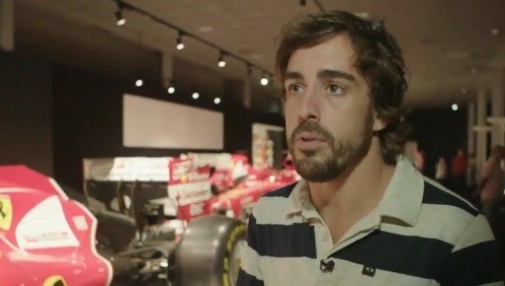 Alonso, en una entrevista