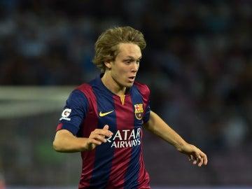 El centrocampista del F.C. Barcelona Alen Halilovic