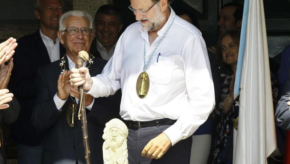 Rajoy en Portomarín
