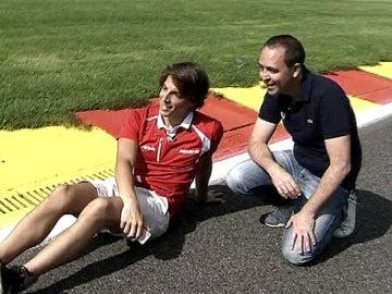 Merhi, en Eau Rouge con Jacobo Vega
