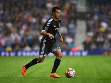 El delantero del Chelsea Pedro Rodríguez durante una jugada