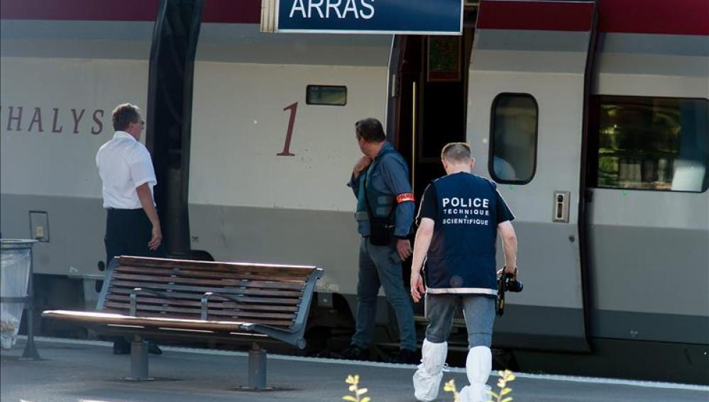 Control policial en los trenes de Francia