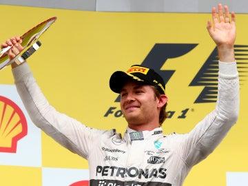 Rosberg, en el podio de Spa
