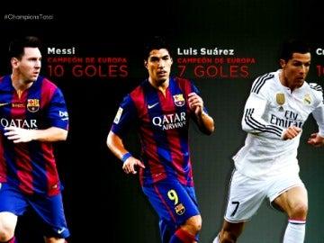 Leo Messi, Luis Suárez y Cristiano Ronaldo, nominados a mejor jugador europeo