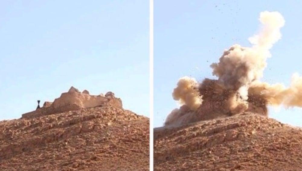 Detonación de parte del templo de Baal en Palmira