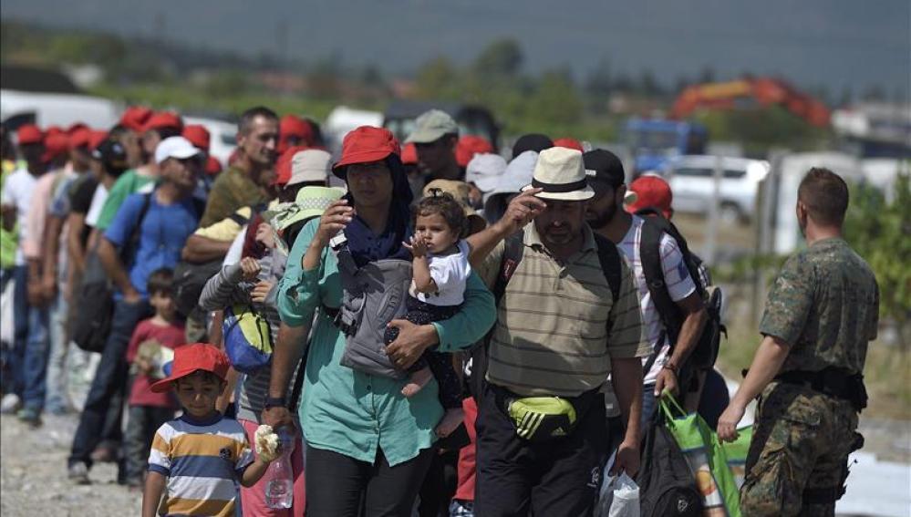 Inmigrantes en Macedonia.