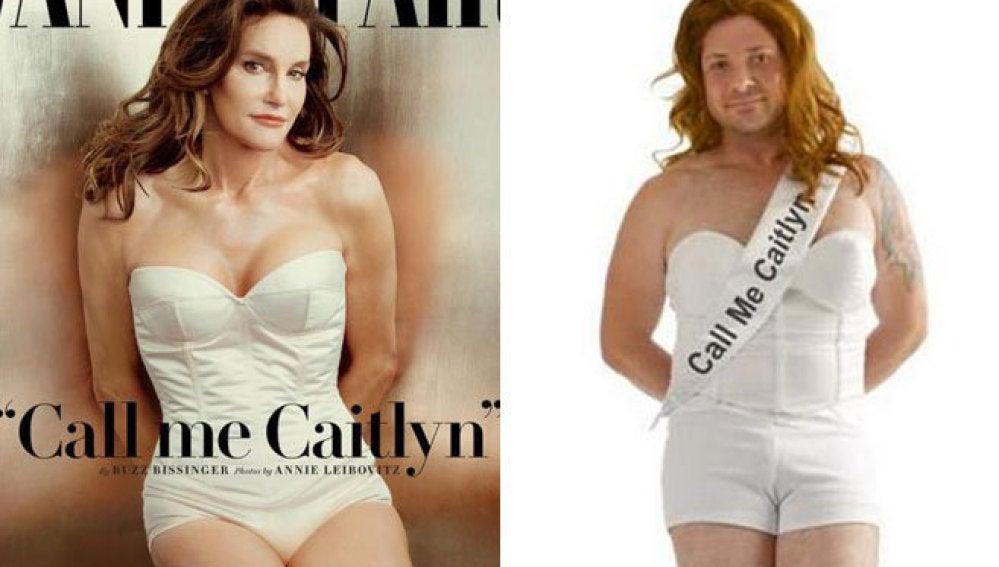 Portada de Jenner en 'Vanity Fair' junto a su disfraz.