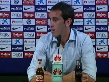 Diego Godín, en rueda de prensa