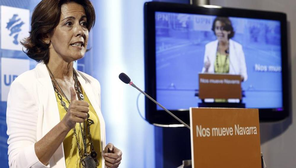 La ya expresidenta de UPN, Yolanda Barcina