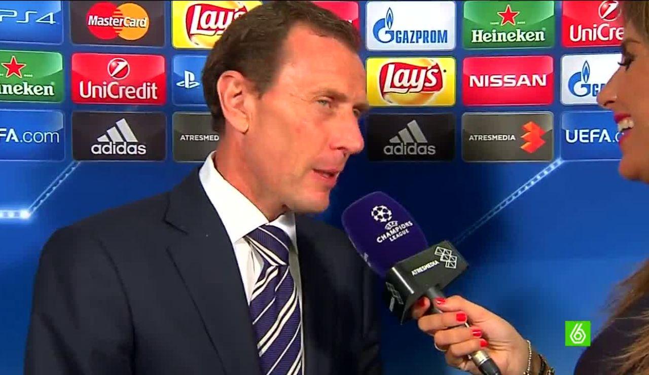 Emilio Butragueño, durante una entrevista