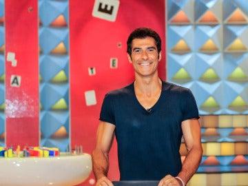 Jorge Fernández, feliz en el nuevo plató