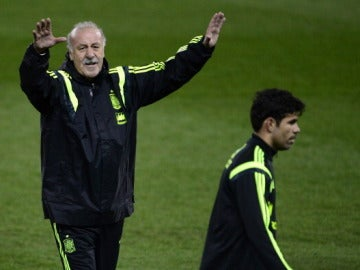 Del Bosque y Diego Costa
