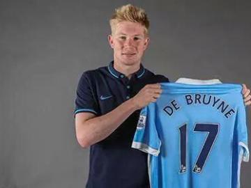 Kevin De Bruyne, con la camiseta del Manchester City