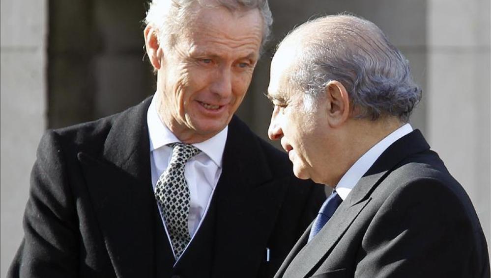 Pedro Morenés y Jorge Fernández Díaz