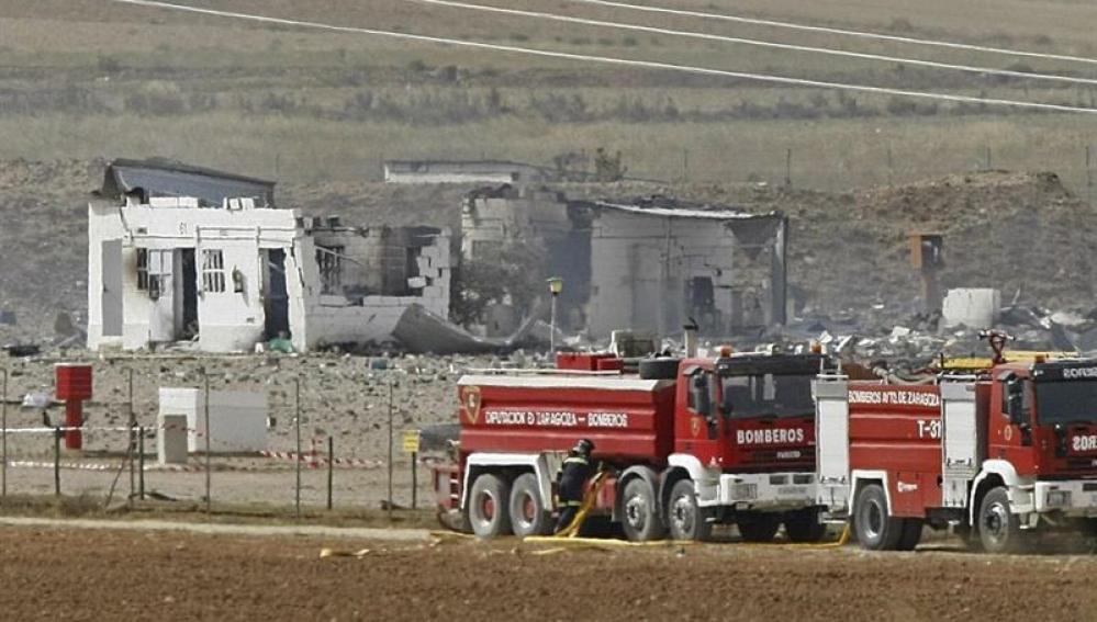 Explosión en una empresa de pirotecnia en Zaragoza