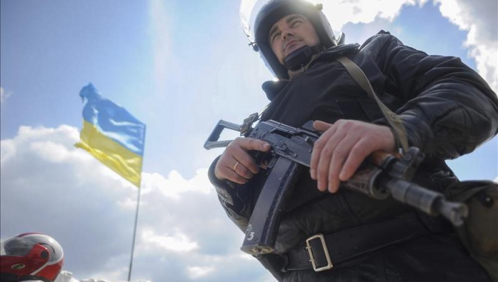 Un policía ucraniano.