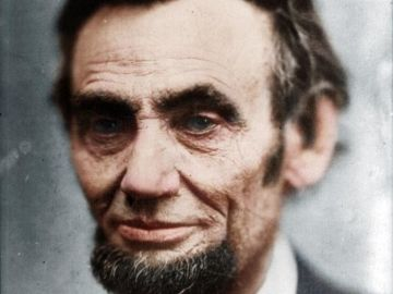 Retrato de Abraham Lincoln en 1865