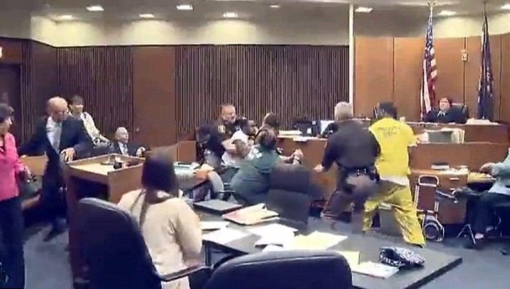 Momento de la agresión