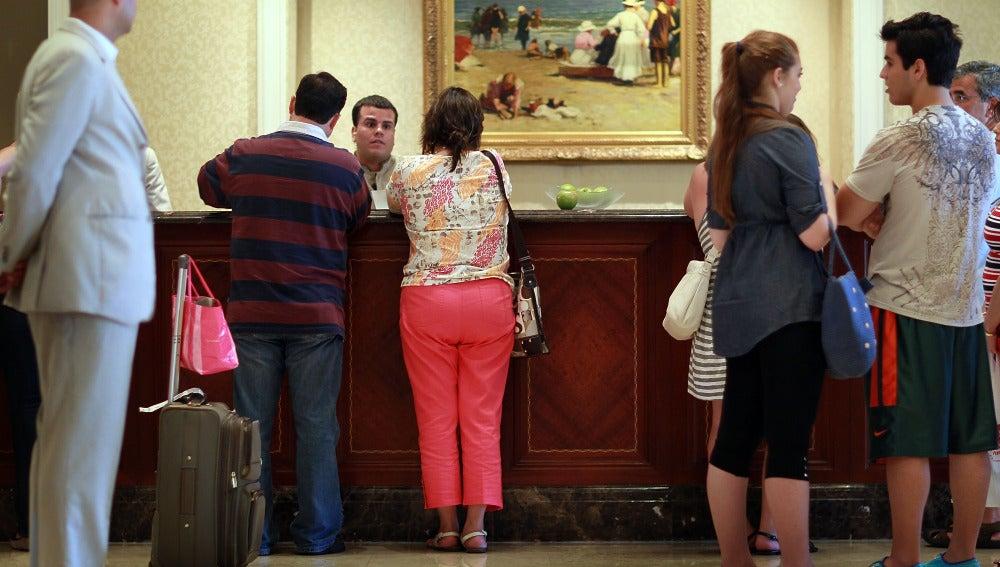Check-in de un hotel en Florida