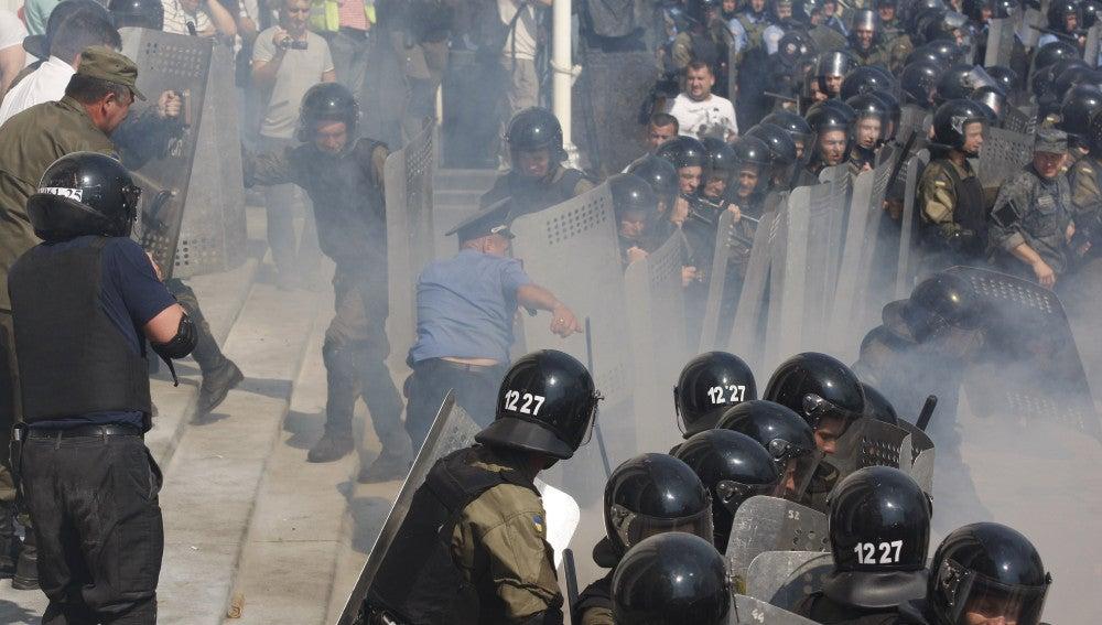 Altercados con la policía ucraniana