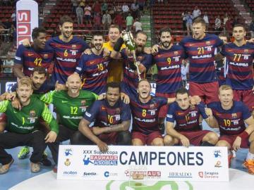 Jugadores del FC Barcelona Lassa