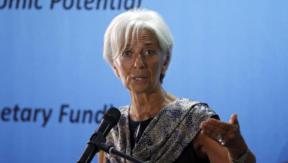 La directora del Fondo Monetario Internacional, Christine Lagarde.