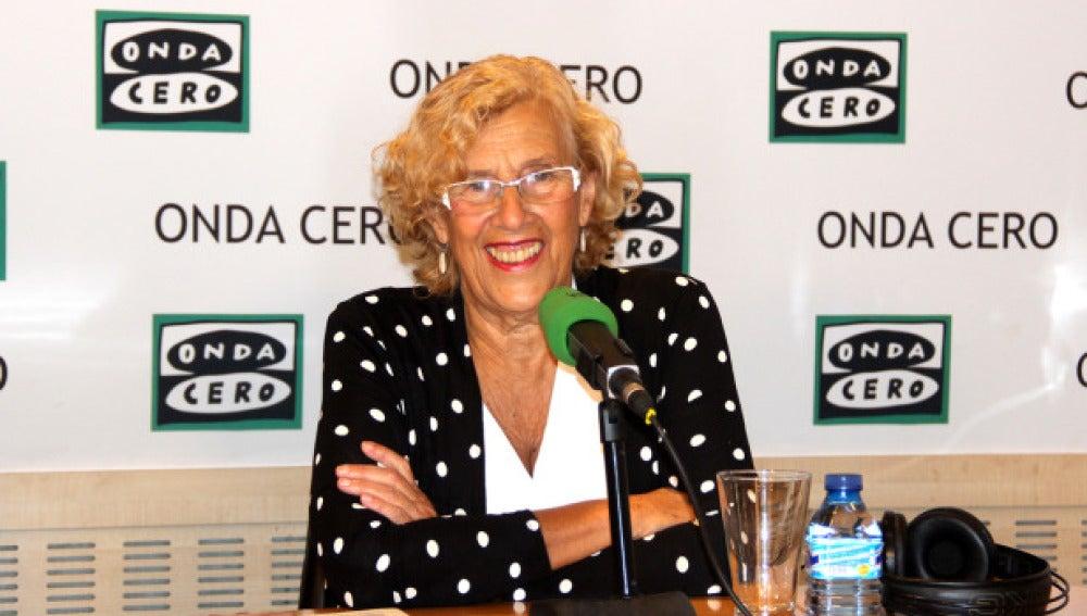 Munuela Carmena, alcaldesa de Madrid, en una entrevista en Onda Cero