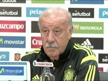 Vicente Del Bosque, durante una rueda de prensa