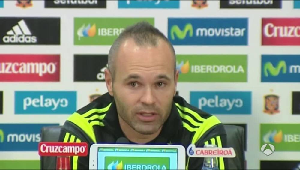 Andrés Iniesta, en rueda de prensa