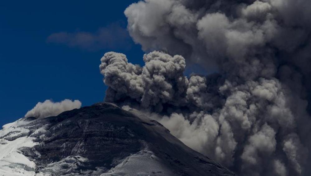 Vista del volcán Cotopaxi