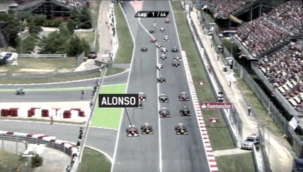 Salida del GP de España 2011