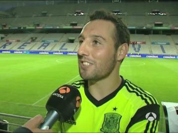 Santi Cazorla, en una entrevista para Antena 3