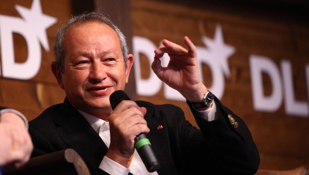 El multimillonario egipcio Naguib Sawiris