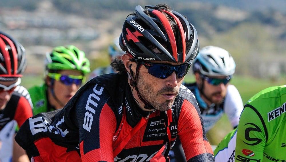 Samuel Sánchez, durante la vuelta a Cataluña