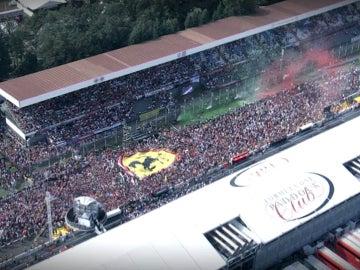 Monza, repleta de gente