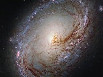 Galaxia espiral captada por el telescopio Hubble