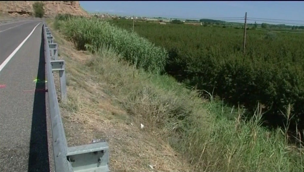 Lugar donde se ha producido el atropello de los ciclistas