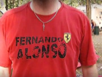Camiseta de Alonso en Ferrari