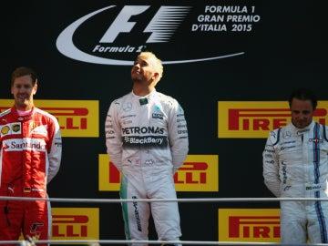 El podio del GP de Italia 2015