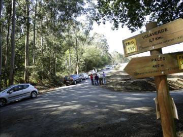 Vista del lugar donde se produjo el accidente en el rally coruñés