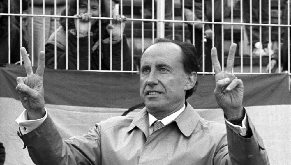 José María Ruiz Mateos, cuando era gerente del club de fútbol Rayo Vallecano