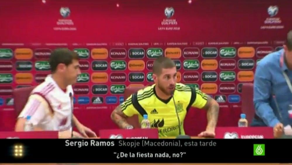 Ramos, durante la rueda de prensa