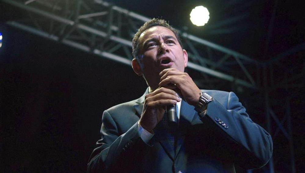 Jimmy Morales, del Frente de Convergencia Nacional
