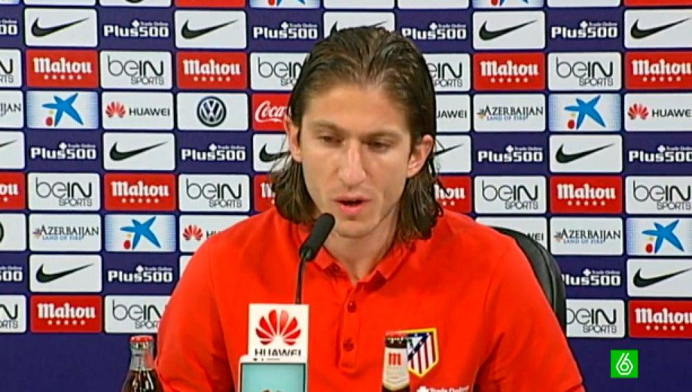 Filipe Luis, en rueda de prensa