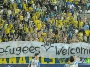 La polémica pancarta del Maccabi