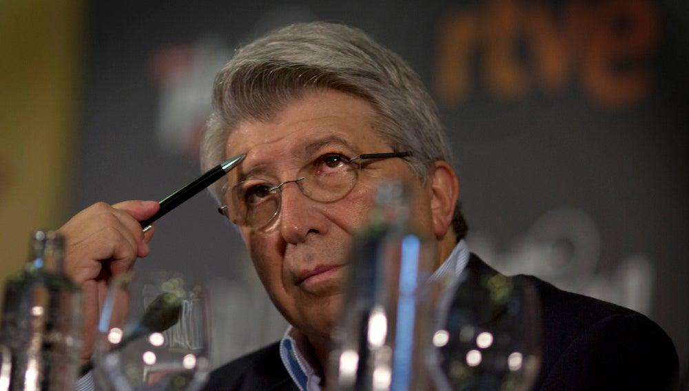 Enrique Cerezo, durante una charla