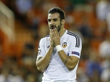 Álvaro Negredo, durante el partido contra el Zenit
